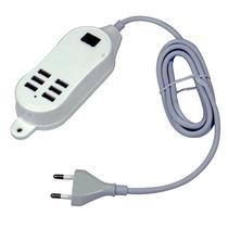 Hub Usb 6 Portas Extensão Elétrica 30w Carregador 5v Tomada