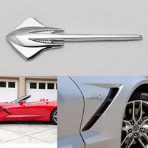 Par Emblemas Chevrolet Corvette C7 Stingray Paralamas