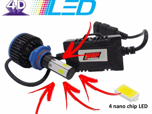 Kit Lampada Super Led 4d H1 H3 H7 Hb3 Hb4 H16 8000lm Canbus
