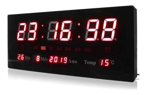 Relógio De Parede Led Digital Grande Pronta Entrega Nf E1