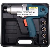 Chave Impacto Elétrica 1000w 1/2pol + Soquetes 17 19 21 23mm
