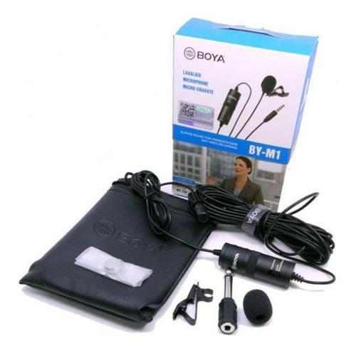 Microfone Lapela Boya  By-m1 Omni Direcional Dslr/smartphone