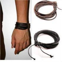 Pulseira Bracelete Tribal Unisex Couro Frete Grátis