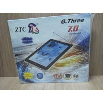 Tablet Função Celular 2 Chips Tv Gps Dual Core Preto Lacrado