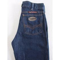 Calça Jeans Masculina Country Azul Stoned Sem Lycra Fi Bulls