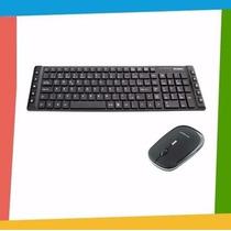 Kit Teclado + Mouse Wireless S/ Fio Slim 2.4ghz - 1600 Dpi
