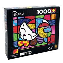 Quebra-cabeça Grow Romero Britto Cat - 1000 Peças