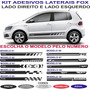 Faixa Lateral Vw Fox Spacefox Crossfox Sport Personalizada