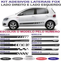 Faixa Lateral Vw Fox Spacefox Crossfox Sport Personalizada