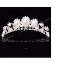 Coroa Tiara Noiva Daminha Dama Debutantes Casamento Pente