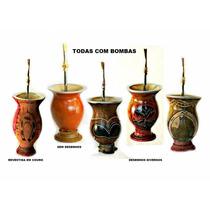 Mix1 5x Cuias De Chimarrão Com Bombas - Vários Modelos