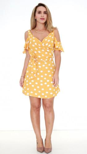1b4138c86a Vestido Exclusiva Amarelo Pv19