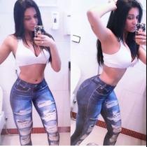 Calça Legging Imita Jeans Lipsoul Girls !!!