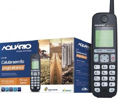 Telefone Aquario Sem Fio Ca45 Rural - Ca - 45 - 10x Mais Sinal