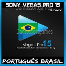 Sony Vegas Pro 15 Português + Packs Efeitos + Brindes