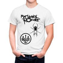 Camiseta Branca My Chemical Romance Banda De Rock 572