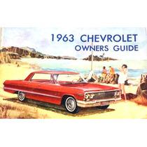 Div - Manual Do Proprietário Chevrolet 1963 Ok! Ótimo