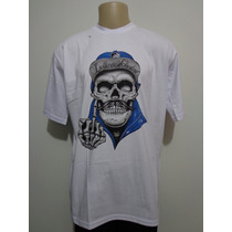Camiseta Rap Power Chicano Caveira Bigode Crazzy Store