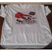 Camiseta Cinza Dj Wagner Com Frase Tradicional Ou Baby Look