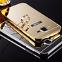 Capinha Bumper Aluminio Espelhada Galaxy J7+pelicula Vidro
