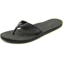 Reef Mallory Aberto À Frente Canvas Flip Flop Sandal