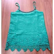 Blusa Rendas Verde