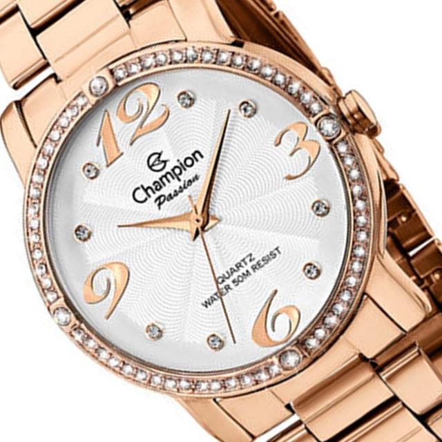 Relógio Champion Feminino Rose Ch24768z Pedrinha Original em ... aba821f687
