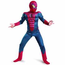 Fantasia Infantil Homem Aranha Com Músculo - Luxo