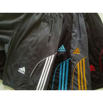 Calção Adidas Com Ziper Nos Bolsos Kit Om 5 Peças