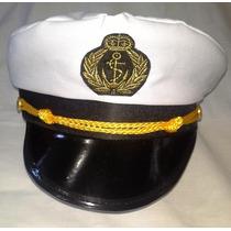 Fantasia Carnaval Festas Chapéu Quepe Comandante Marinha !!!