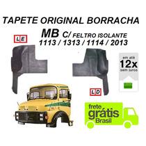 Par Tapete Borracha Original Caminhão Mb 1113 2013 C/feltro