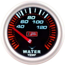 Auto Gauge Temperatura De Agua Eletrico 52mm Smoke Series