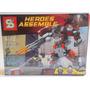 Brinquedo De Montar Robos Herois 281 Peças Compatível Lego