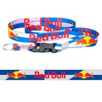 Chaveiro Cordão Com Fecho Moto Red Bull