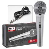 Microfone Profissional Mxt M-1138 + Cabo 4,5m Karaokê Igreja