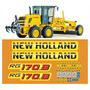 Adesivo Motoniveladora New Holland Rg170b Rg 170b Mk Original