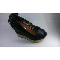 Sandália Plataforma Preto Confort - Dália -promoção