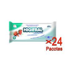 Toalha Umedecida Higifral Com 40 Un. - 24 Pacotes