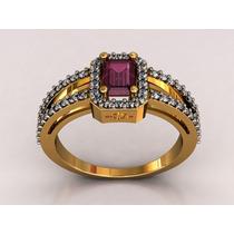Anel Formatura Luxo. Diamantes Pedra Natural. Luxo!!