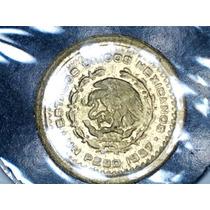 Moeda De Ouro De 1 Un Peso México 1957 - 10mm 8k.