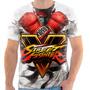 Camiseta  Camisa Street Fighter 5 Ryu 4 Jogo Luta Ps3 X Box