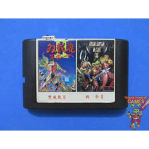 Cartucho Mega 2 In 1 Double Dragon 2 E Golden Axe 2 Rara