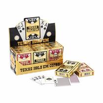 Caixa Com Doze Baralhos Copag Texas Hold'em Plástico Poker
