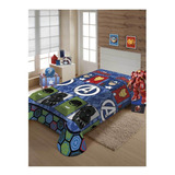 Cobertor Jolitex Ternille Manta Soft Solteiro Avengers Símbolos