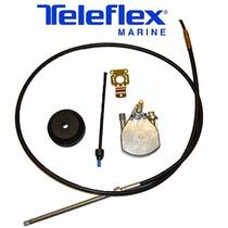 Kit Direção Teleflex Com Caixa Safe-t Bezel E Cabo 10 Pés