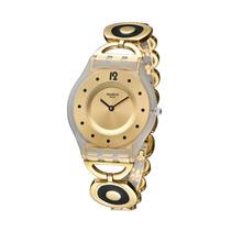 Relogio Feminino Swatch Sfw106g Caring Swing Dourado Origina