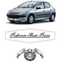 Kit Maçaneta E Aplique Tampa Combustivel Peugeot 206 E 207
