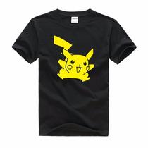 Camiseta-camisa-blusa Anime Pokemon Pikachu -desenho 2016