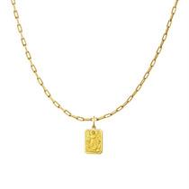 Leão Jóias Medalha Anjo Da Guarda E Corrente Infantil Ouro R