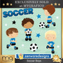 Kit Scrapbook Digital Futebol Imagens Clipart Cod 5